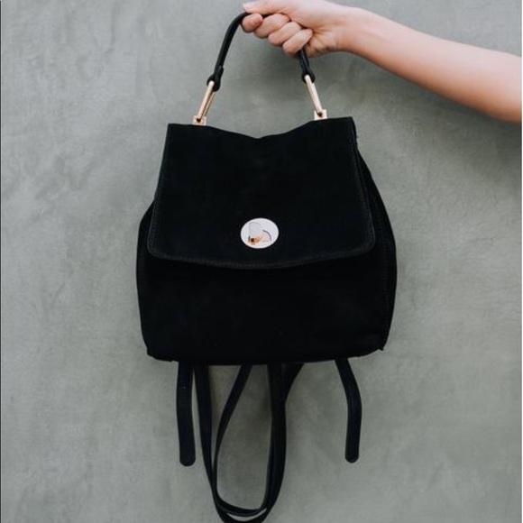 efaa2f7462 ... Black Faux Suede Leather Backpack. M_5b4e95e4baebf658ec8dda97